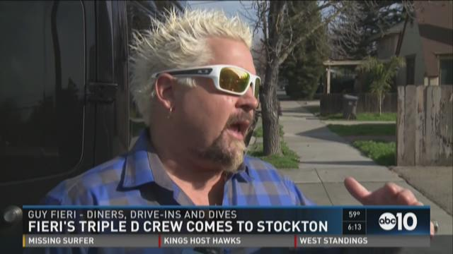 Food Network chef Guy Fieri visits Modesto, Stockton to film episodes