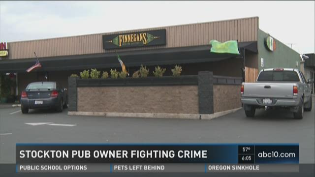 Tony Finnegan, Finnegans owner, is encouraging people to fight crime in Stockton and Lodi.