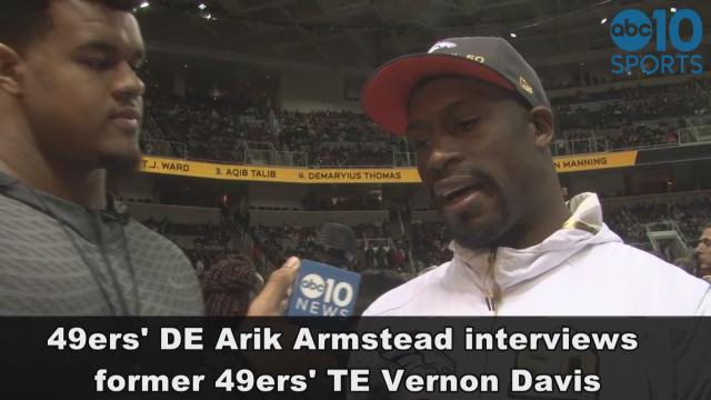 49ers' Arik Armstead interviewed former teammate Vernon Davis, who talked about his love for San Francisco.