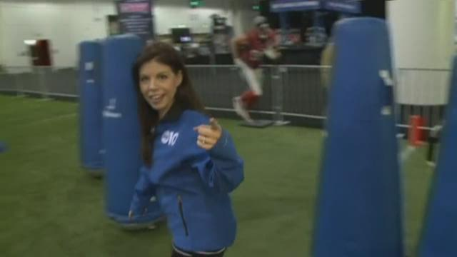 Amy Carabba gets the NFL Experience
