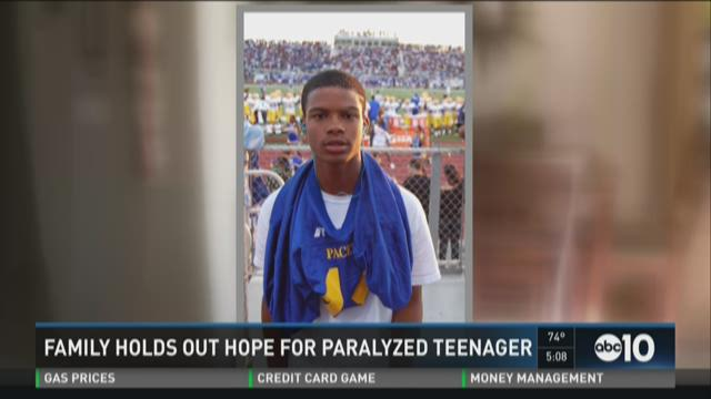 Family holds out hope for Del Paso Heights teenager who was shot in the neck and paralyzed
