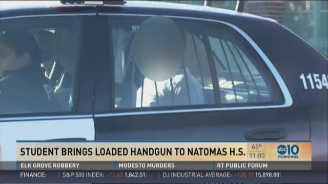Natomas High freshman brought loaded handgun into class