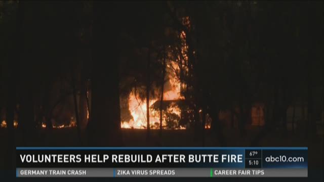 Volunteers help rebuild after Butte Fire