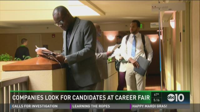 Companies look for candidates at career fair in Sacramento