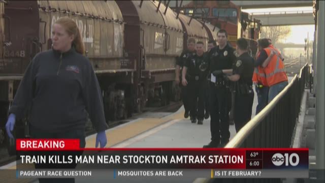 Train kills man near Stockton Amtrak station