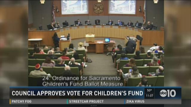 Council approves vote for children's fund