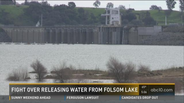 There's a fight over releasing water from Folsom Lake