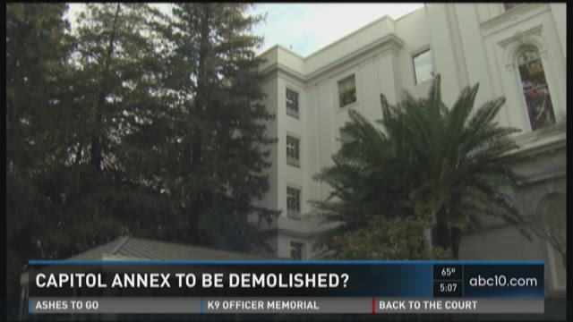 Could part of the Capitol Annex be demolished?