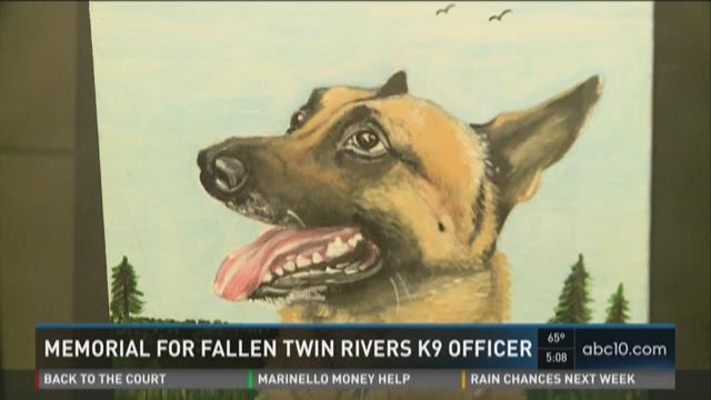 Memorial held for fallen Twin Rivers K9 officer