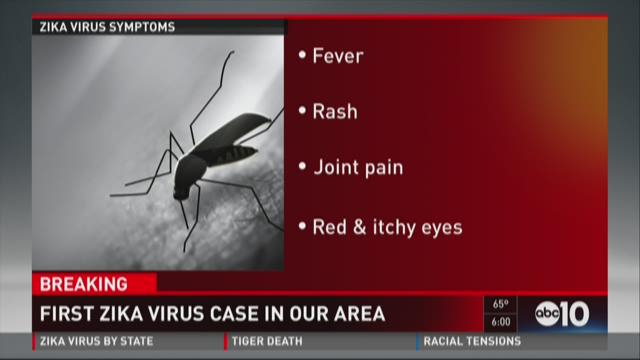 Zika Virus case reported in Yolo County