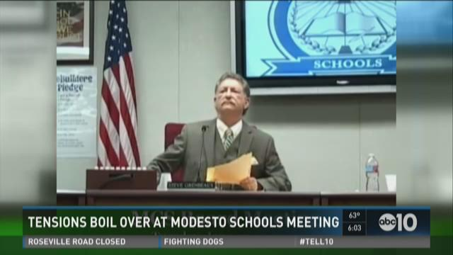 Tensions boil over at Modesto schools meeting
