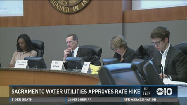 Sacramento water utilities approves rate hike