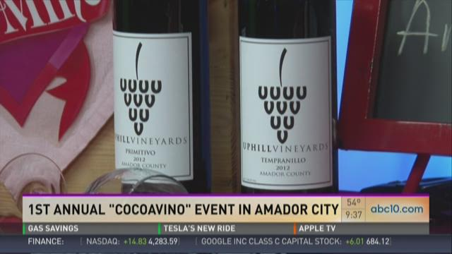 Wine and chocolate event at Amador City