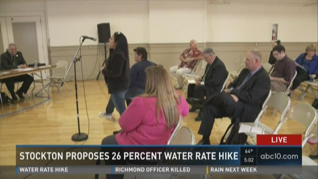 Stockton proposes 26 percent water rate hike