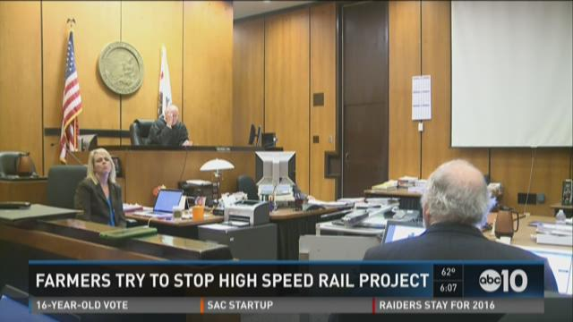Farmers try to stop high-speed rail project