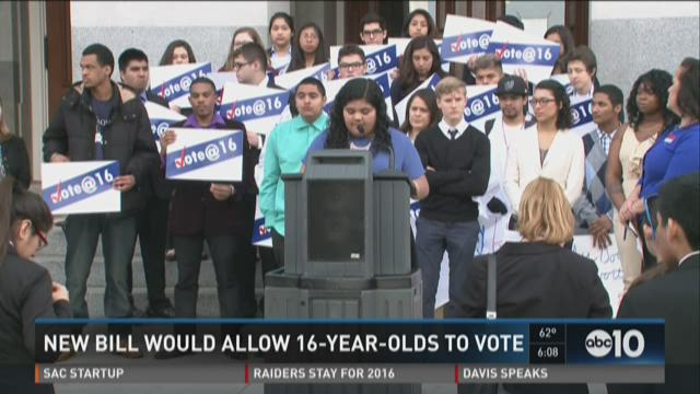 New bill would allow 16-year-olds to vote