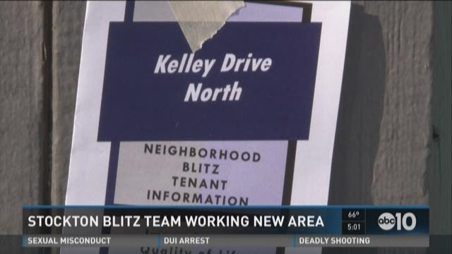 Stockton blitz team working new area