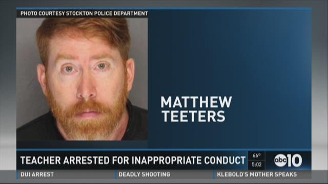Teacher arrested for inappropriate conduct
