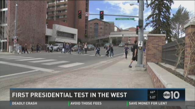 First presidential test in the west