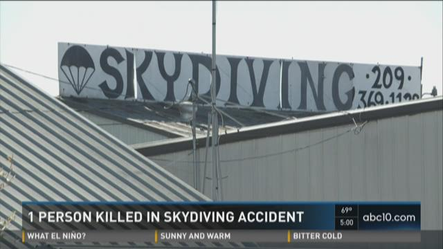 One person killed in skydiving accident