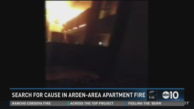 Search for cause in Arden-Area apartment fire