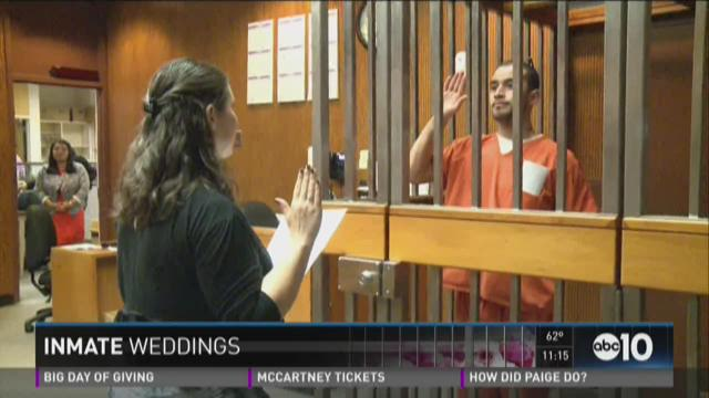 Women tie the knot with men behind bars
