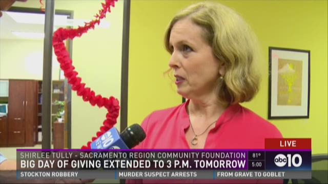 BIG Day of Giving extended to 3 p.m. Wednesday