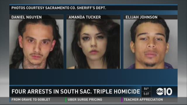 Four arrested in South Sacramento triple homicide