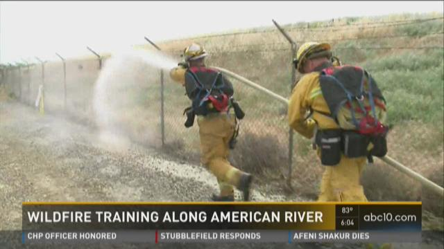 Wildfire training begins along American River