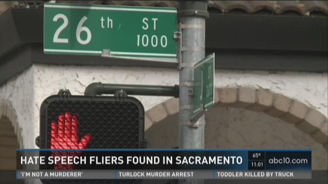 Hate speech fliers found in Sacramento