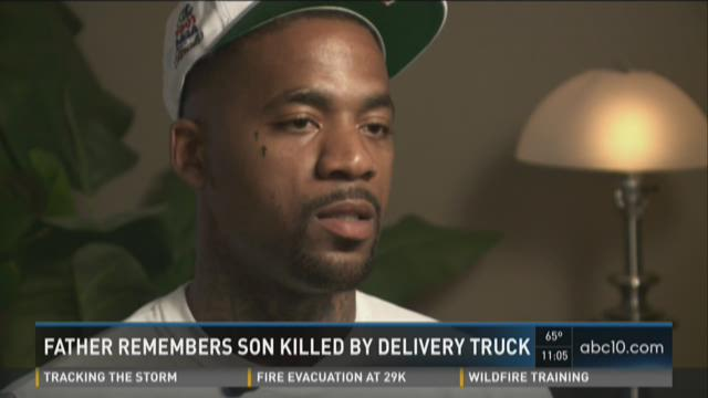 Father remembers son killed by delivery truck
