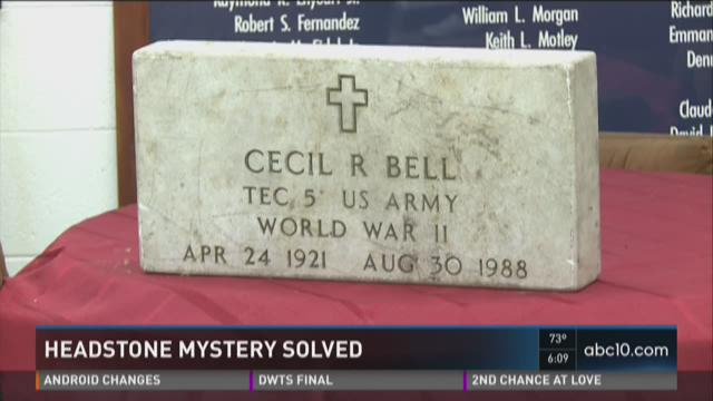 World War II veteran headstone found in trash and moved to cemetery