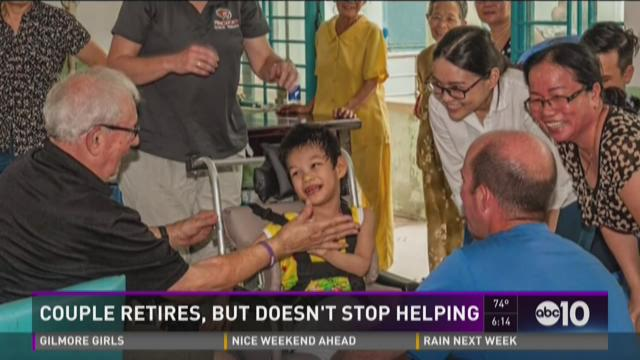 Couple continues its quest to help, even after retirement