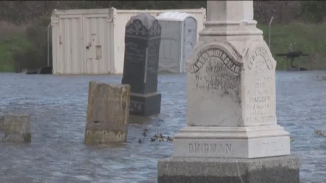 Historic Marysville cemetery flooded