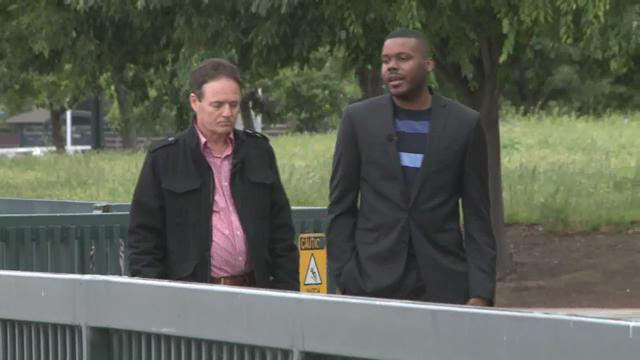 Walt gray takes a walk with stockton mayor michael tubbs for Michaels crafts stockton ca