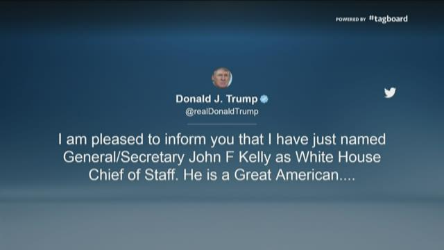 Trump drops Priebus, hires Kelly as staff chief