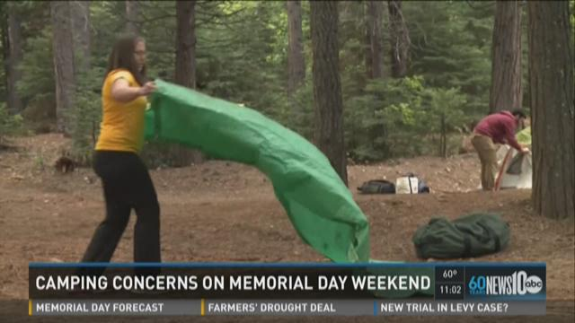 Camping concerns on Memorial Day weekend