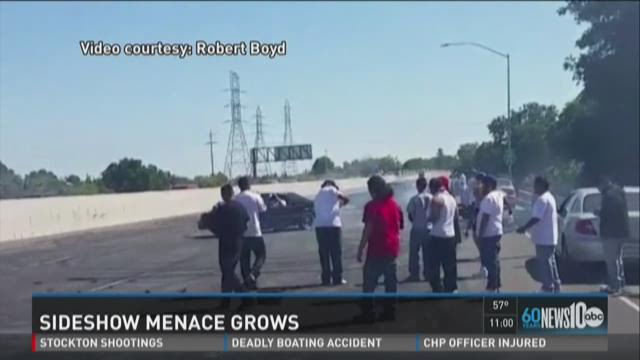 "VIDEO: Illegal ""sideshows"" move off freeways, endanger many"
