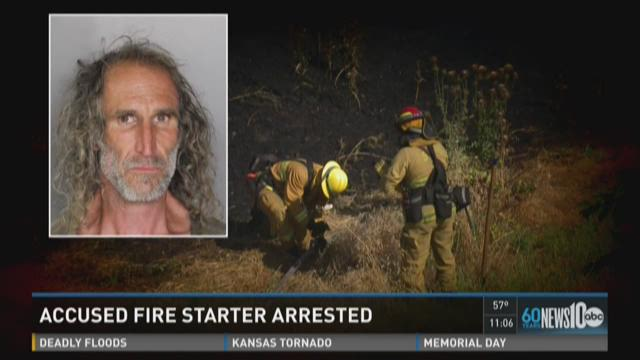 Man arrested for arson in grass fire incident near I-5 and Richards Boulevard