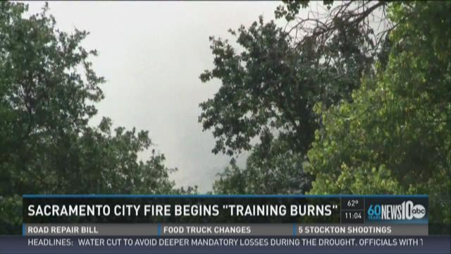 Fire crews begin training burns
