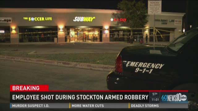 One shot in Subway robbery