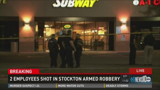 Subway employee shot in Stockton armed robbery