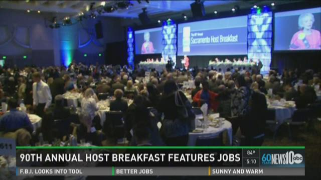 90th annual host breakfast features jobs