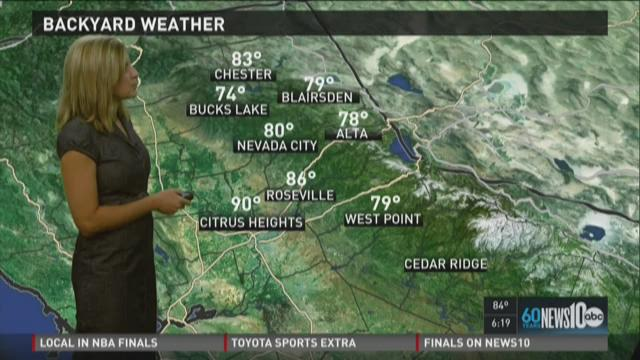 Sacramento area evening weather forecast update for Thursday, May 28, 2015