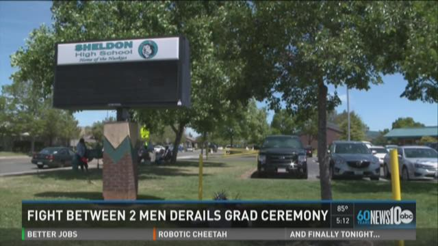 Fight between 2 men derails grad ceremony
