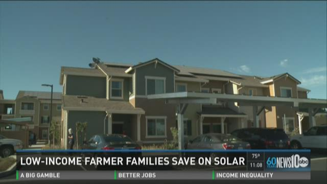 Low-income farmer families save on solar