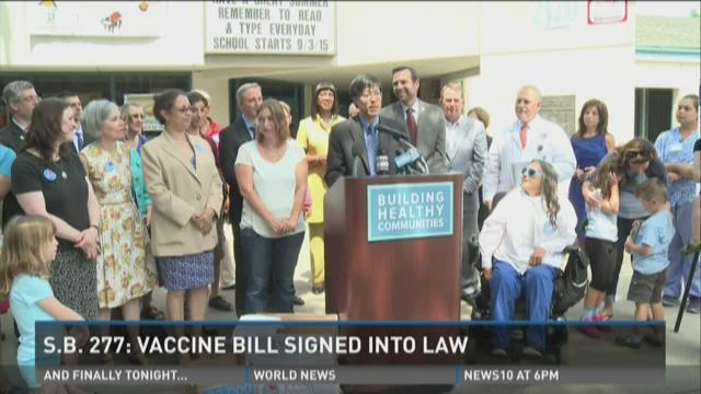 Brown signs vaccine bill into law