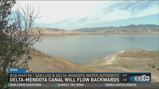Delta-Mendota canal will flow backwards