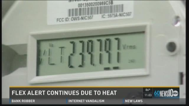 Flex Alert continues due to heat