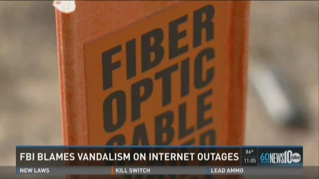 FBI blames internet outages on vandalism